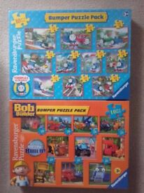 Bob the Builder and Thomas the Tank jigsaw puzzles