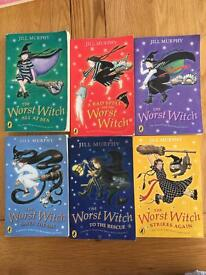 The worst witch book set
