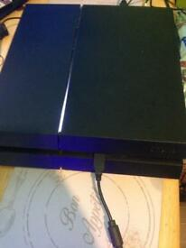 PS4 With Unofficial Wired controller & Game