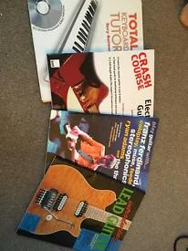 Guitar and Piano self teach books with CDs
