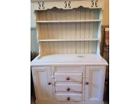 Painted pine Welsh Dresser .Top is separate for ease of transporting.