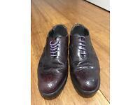 Vintage Dark Purple Men's Brogues size 8