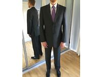"Men's M&S, grey, 100% pure wool, classic suit. Jacket 40""L, trousers 34/33"". Belmont area"
