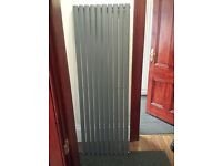 ANTHRACITE VERTICAL SINGLE OVAL TUBED RADIATOR 1780 X 590MM RRP £749