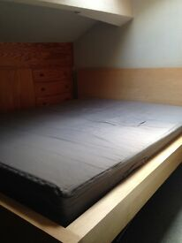 King Size bed and mattress (ikea)