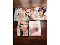 Harpers Bazaar USA 1995 - 5 fabulous editions (June to October) - covers include Uma, Cindy & Linda