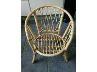 Childs vintage cane bamboo wicker chair