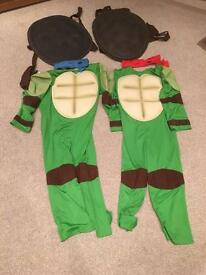 Two ninja turtles outfits age 6-8yrs
