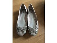 Sparkly flats (size 5) perfect for a party or wedding