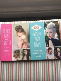 2 x hair style books
