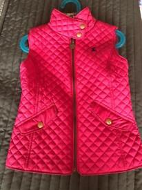 Joules girls gilet age 6
