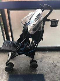Sliver cross butterfly pushchair