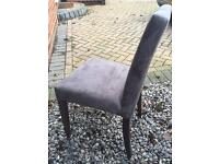 Faux Suede dining chairs