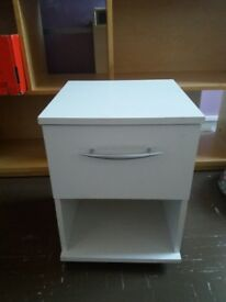 White bed side table with the drawer