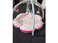 pretty pink mothercare baby playmat in good condition