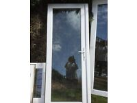 3 pairs of UVPC Patio Doors, with handles, locks and fixtures