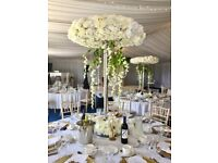 Halo Centrepiece Hire Luxury Large Wedding Centre £199 Ice Table Rental Head Table Cake Display Swag