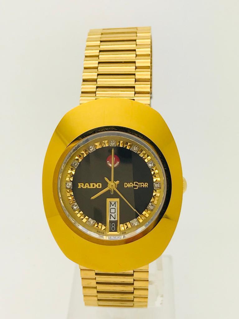 Used Rado Diastar Black Dial Automatic Scratch Proof 25 Jewels Men's Watch