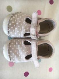 Mothercare pink canvas children's shoes size 5 junior