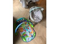 FREE baby bouncer and hilarious foot piano
