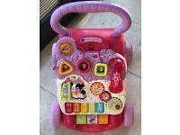 Vtech baby walker- pink