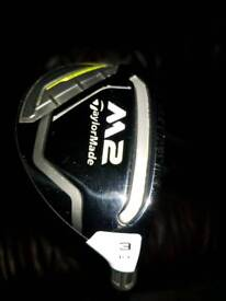 Taylormade M2 Hybrid 2017 19 degrees regular flex excellent condition with head cover
