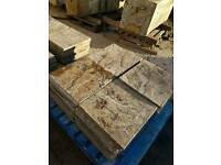 Reclaimed 17.5x17.5 riven concrete paving slabs