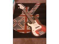 Retro funky guitar rug