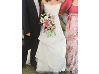 Wedding Dress-Cymbeline, size 10/12, champagne, full length, strapless, a-line for sale  Winchester, Hampshire