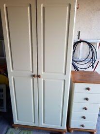 Wardrobe + 5 drawer narrow chest