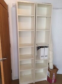 Ikea billy bookcase white x2