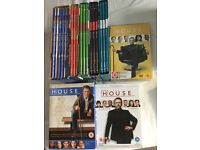 DVD boxed sets of HOUSE. Series 1-8