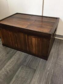 Split cane decorated Storage box or coffee table