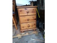 Pine Bedside Drawers ( 2 avail)