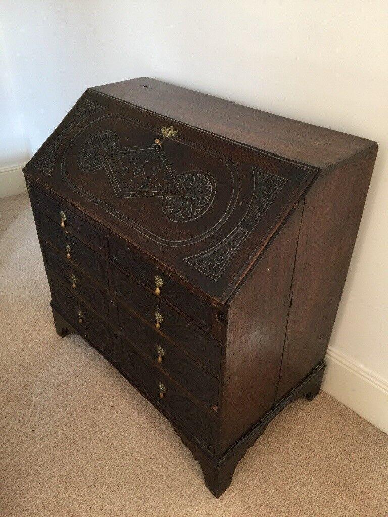 Antique dropped leaf bureau/writing desk for sale