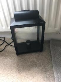 Black metal lantern light