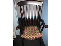 Stunning large solid wood armchair
