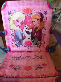 Frozen folding garden chair