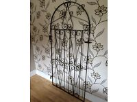WROUGHT IRON GATE ARCHED TOP 6 FEET TALL
