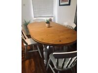 Solid Pine Table and 4 Chairs Free Delivery