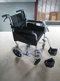 Assistance wheelchair in excellent condition. Very little use. With cushion and foot cosy.