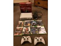 Xbox 360 with 8 games