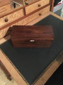 Edwardian mahogany tricket box