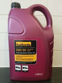 Halfords 5W/30 Vauxhall Opel Fully Synthetic Motor Oil 4 Litre. Item code is 338704