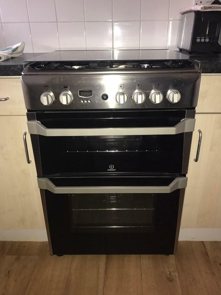 INDESIT Gas Cooker - Stainless Steel