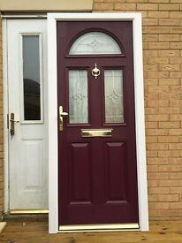 Composite door Crimson red