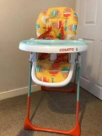 Cosatto supernoodle egg and spoon high chair