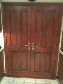 Mahogany internal double doors
