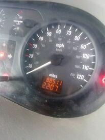 Vivaro van low mileage