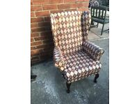 Parker knoll style wing chair